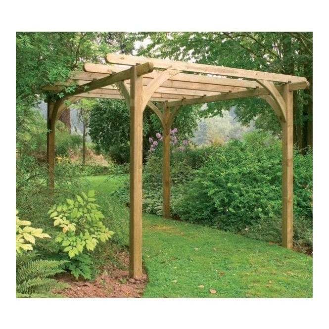 Ultima Pergola Kit with Pressure Treated Wood - Forest Garden Ultima Pergola Kit 2 Size Options FSC Approved Timber
