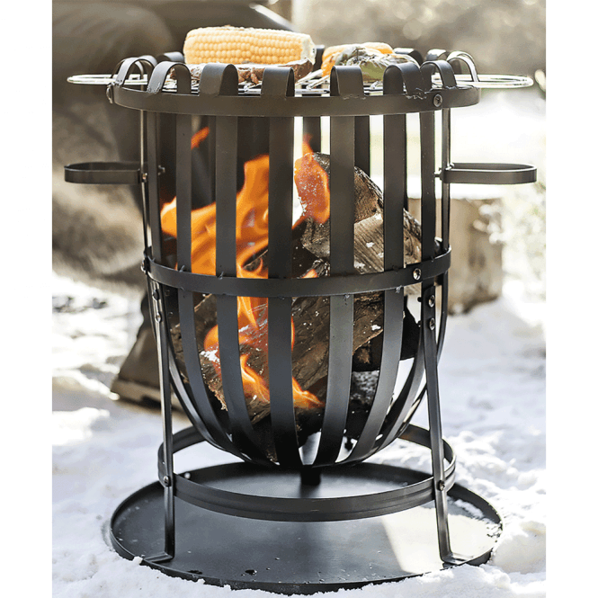 Click to view product details and reviews for Vancouver Steel Firebasket With Grill.