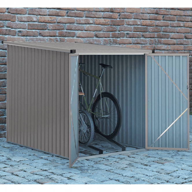 Velo 2 Grey Bicycle Shed 4 X 6