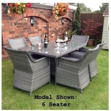 Victoria Rectangular Rattan Seater Dining Set - 6 or 8 Seater