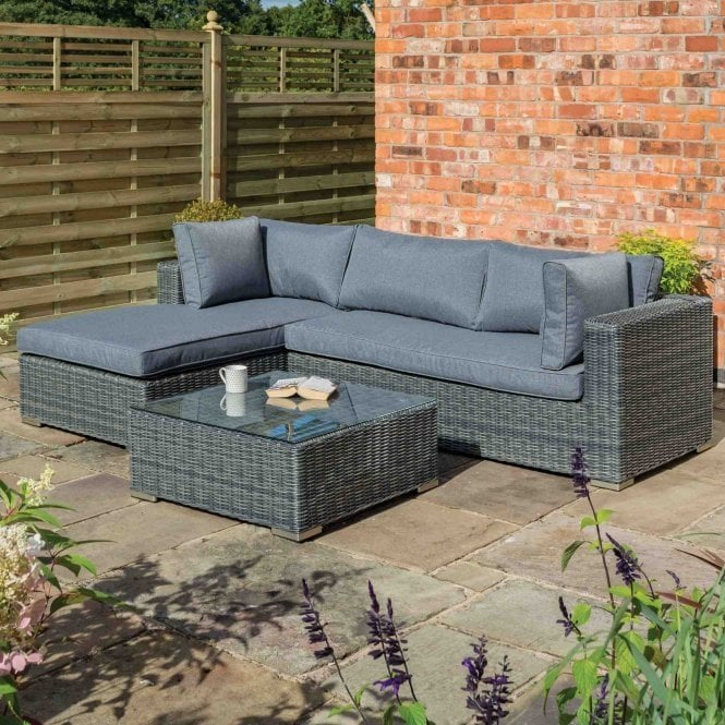 Click to view product details and reviews for Vienna Lounger Set Grey Weave.