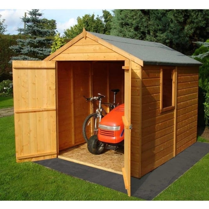 Click to view product details and reviews for Warwick 8ft X 6ft Garden Shed Shilap Double Door.