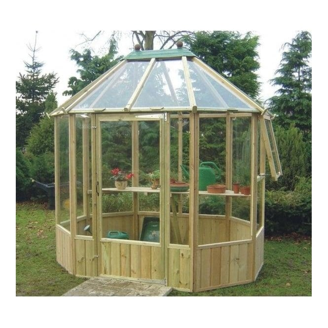 Wellow Octagonal Greenhouse 3 Sizes In Fsc Approved Timber