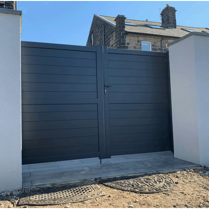 Click to view product details and reviews for Weybridge Aluminium Driveway Gate.