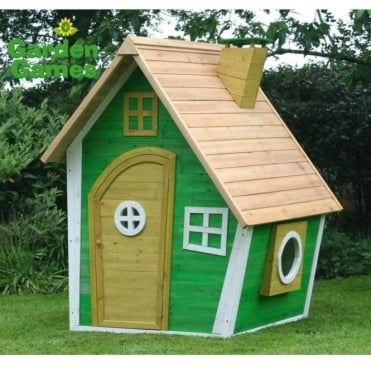 Whacky Ranch Playhouse Finished in Yellow and Green