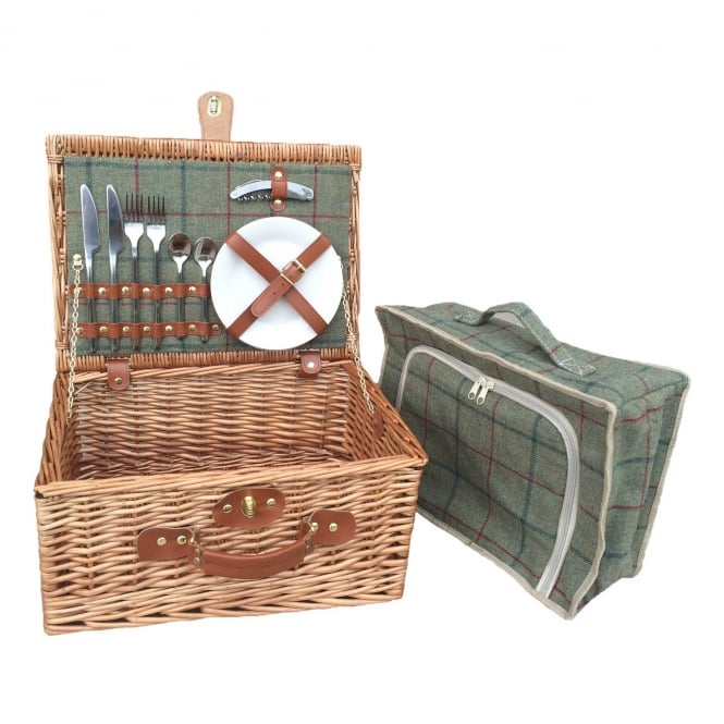 Click to view product details and reviews for Willow Direct Baskets 2 Person Green Tweed Hamper.