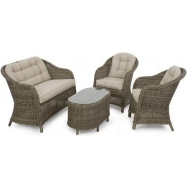 Winchester Rounded High Back Sofa Set