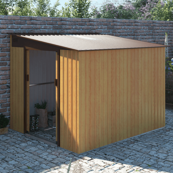 Click to view product details and reviews for Windsor 1 Oak Metal Shed 7 X 8.