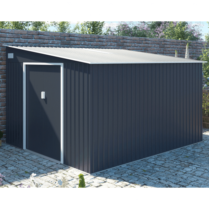 Click to view product details and reviews for Windsor 2 Grey Metal Shed 9 X 10.