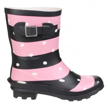 Women's Badminton Wellington Boots in Stripes