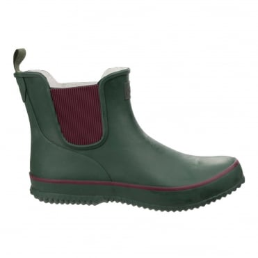 Women's Bushy Wellington Boots in Green