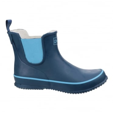 Women's Bushy Wellington Boots in Navy