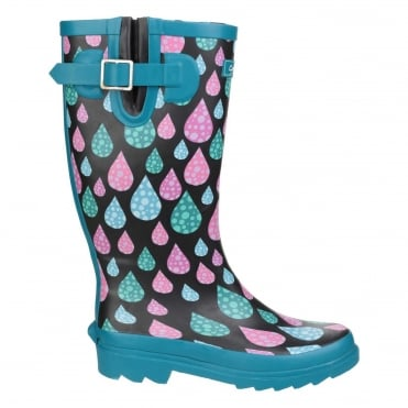 Women's Raindrop Burghley Wellington Boots