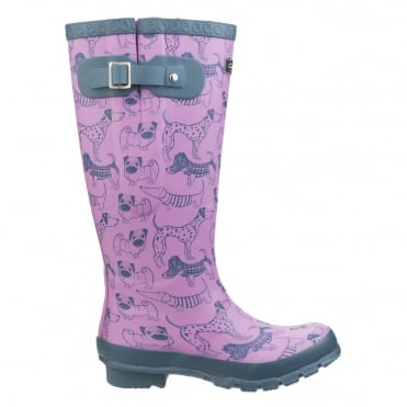 Women's Windsor Dog Print Wellington Boots
