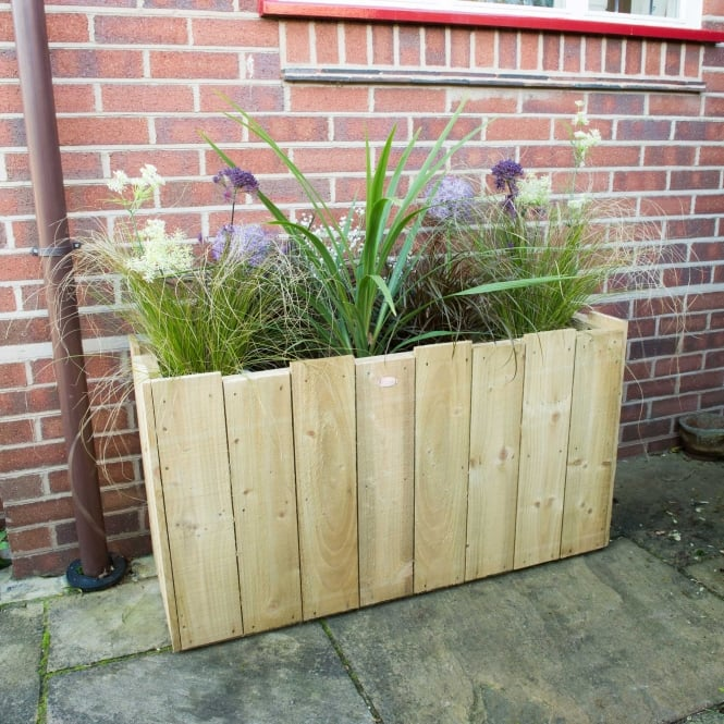 Click to view product details and reviews for Wooden Long Windsor Planter.
