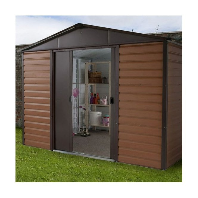 Woodview Shiplap Metal Shed With Floor Support Kit 10 X 6