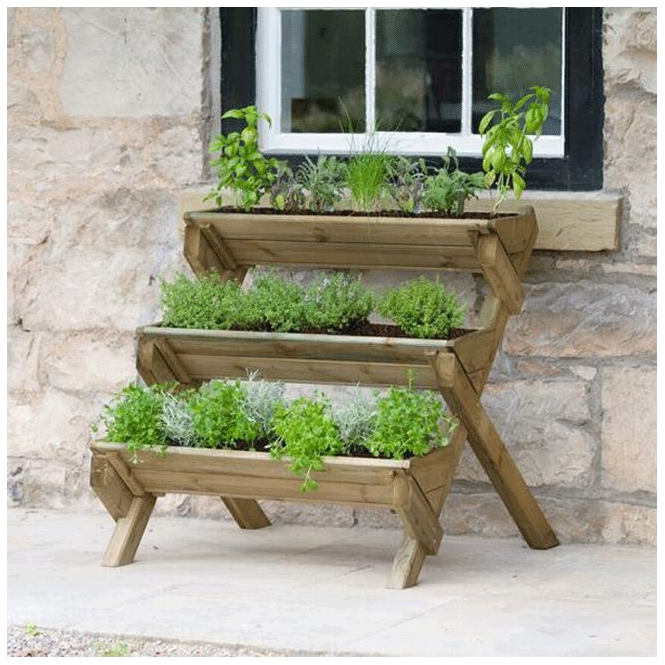 Click to view product details and reviews for Zest 4 Leisure 4 Leisure Stepped Herb Planter.