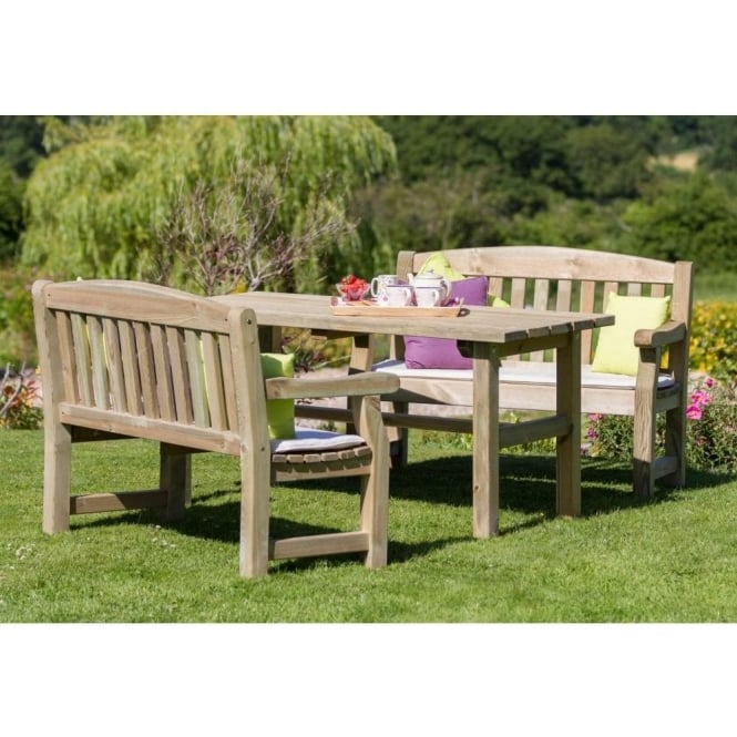 Emily Table & 2 Bench Set